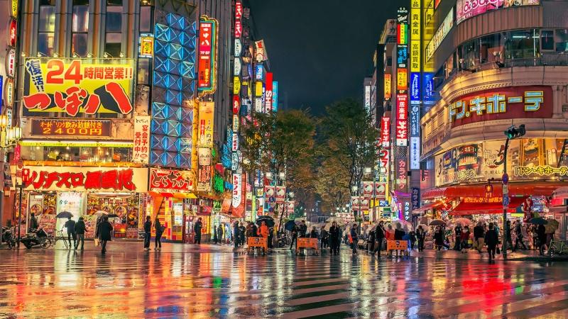 Thành phố Tokyo muôn màu khi về đêm.