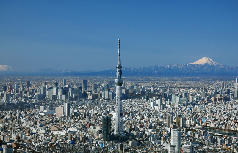 Tòa tháp nằm sừng sững giữa thủ đô