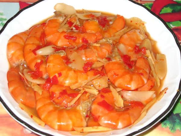 Món tôm chua Huế