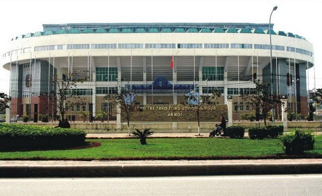 Cung thể dục thể thao Quần Ngựa do Tổng Công ty đầu tư phát triển hạ tầng đô thị (UDIC) xây dựng