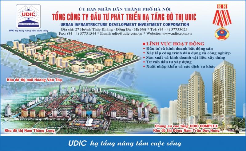 Poster quảng cáo của công ty Udic.