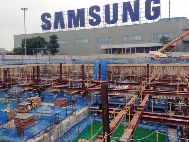 VINAINCON đang thi công hệ thống xử lý nước thải của Samsung Bắc Ninh