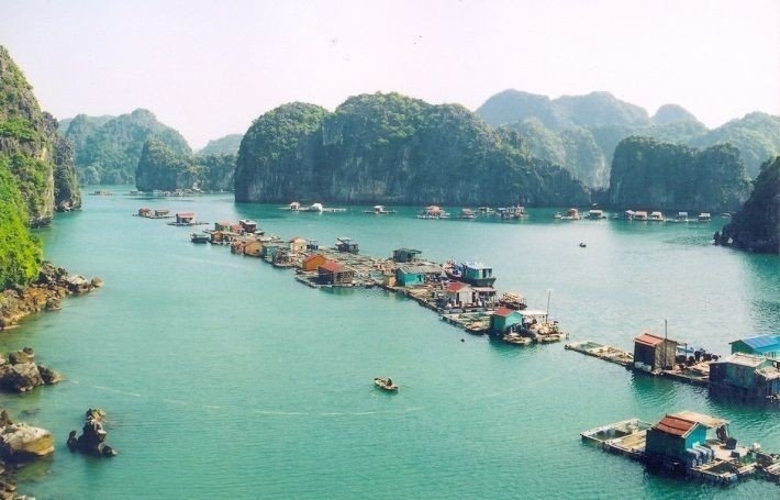 Fishing village seen from above