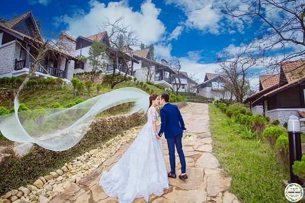 Khu nghĩ dưỡng Topas Ecolodge trong bộ ảnh cưới thật lãng mạn của đôi bạn trẻ