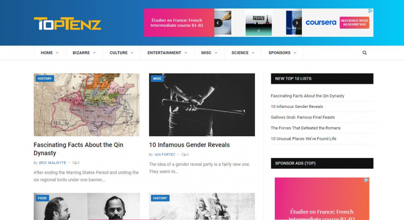 Website của Toptenz