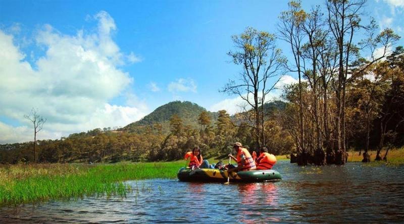 Tour chèo thuyền ngắm lá phong Đà Lạt được tổ chức bởi Hoa Dalat Travel