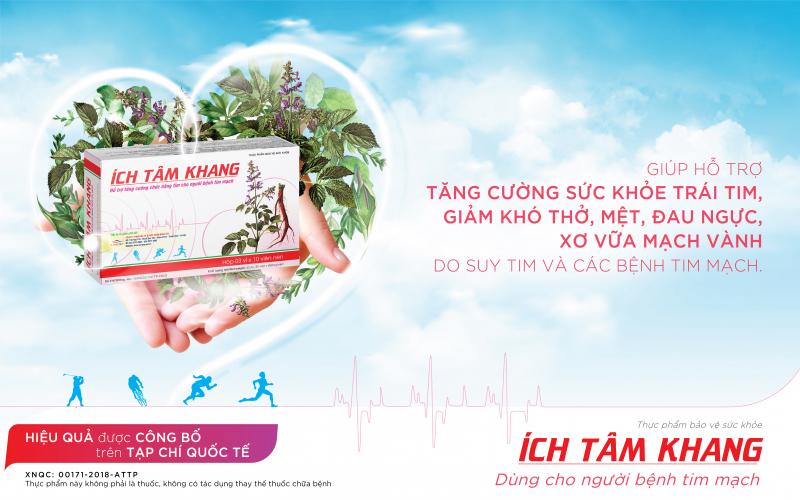 TPCN Ích Tâm Khang - giúp tăng cường sức khỏe trái tim