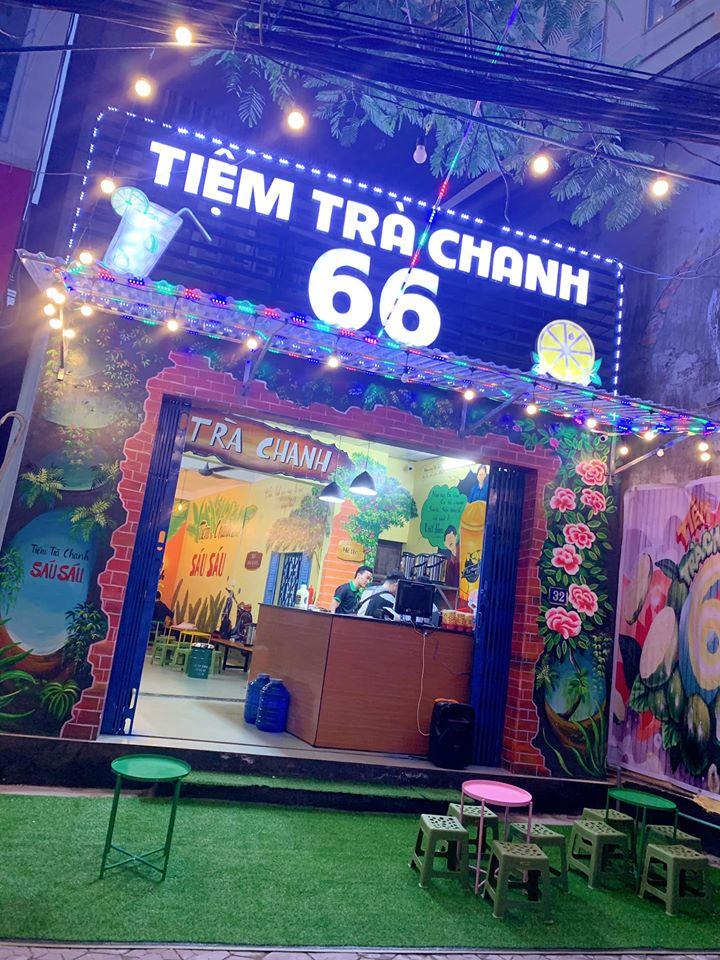 Không gian quán được trang trí đẹp mắt (Nguồn: Fanpage: Tiệm trà chanh 66 tp Vinh)