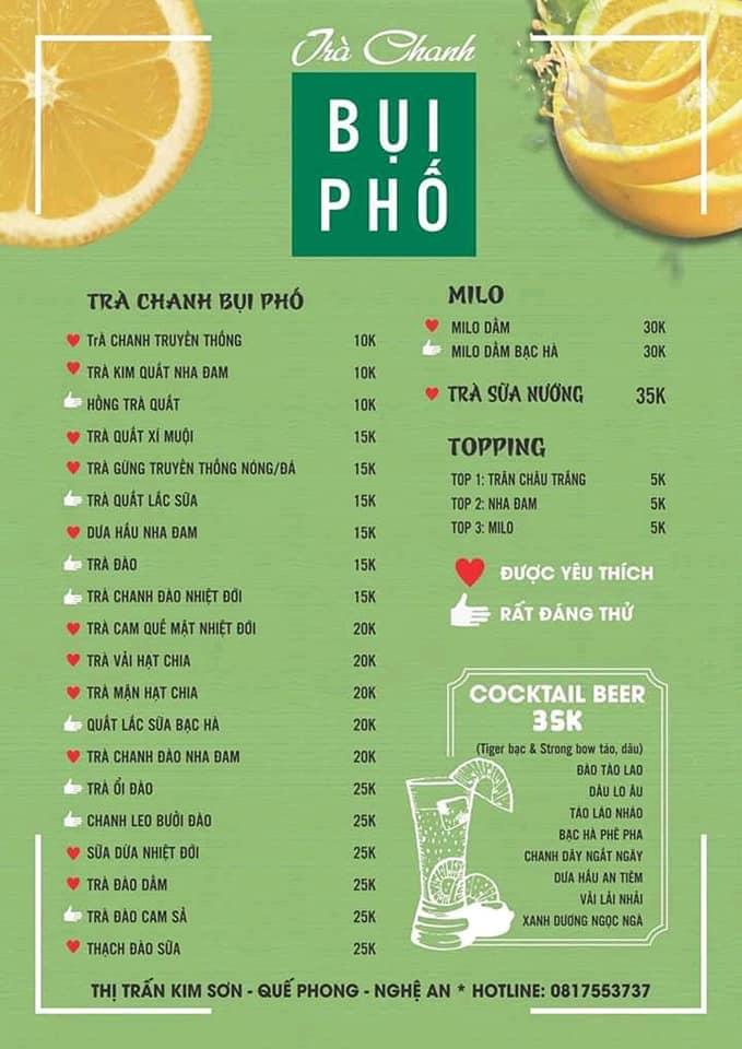 Trà Chanh Bụi Phố Thị Trấn Kim Sơn - Quế Phong