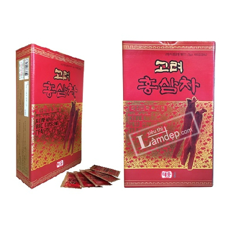 Trà Hồng Sâm Taewoong Food Korean Red Ginseng Tea