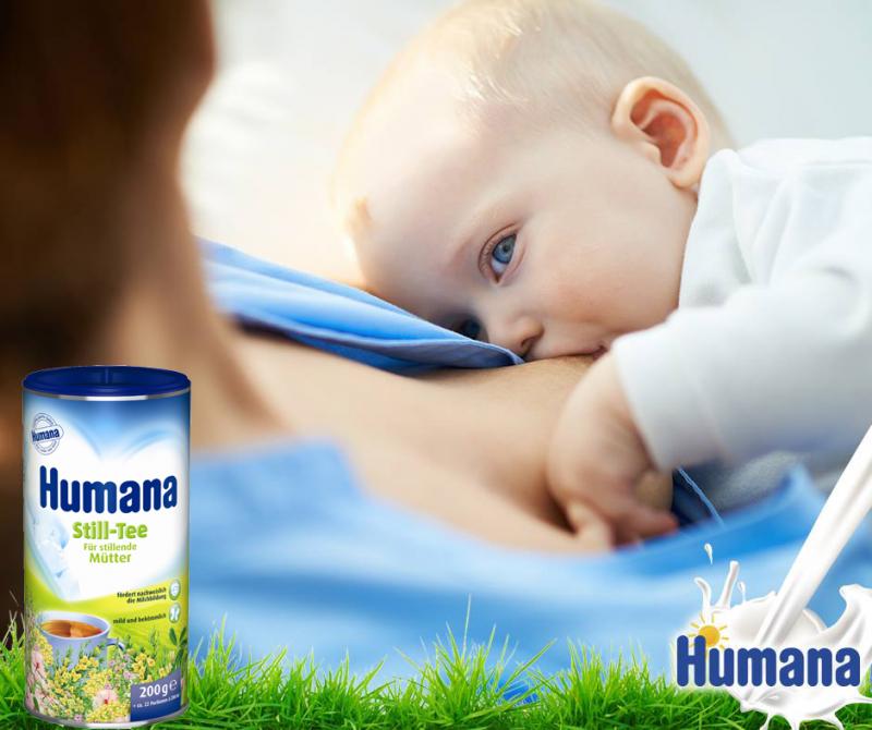 Humana Still Tee giúp cho con bạn tận hưởng nguồn dinh dưỡng hoàn hảo nhất từ sữa mẹ.