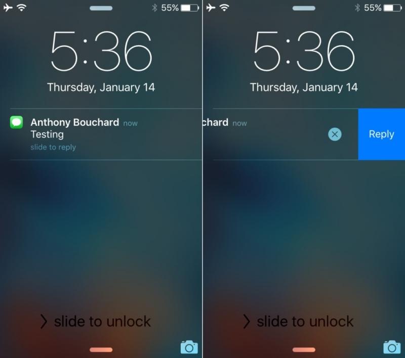 Trả lời tin nhắn không cần mở khóa màn hình