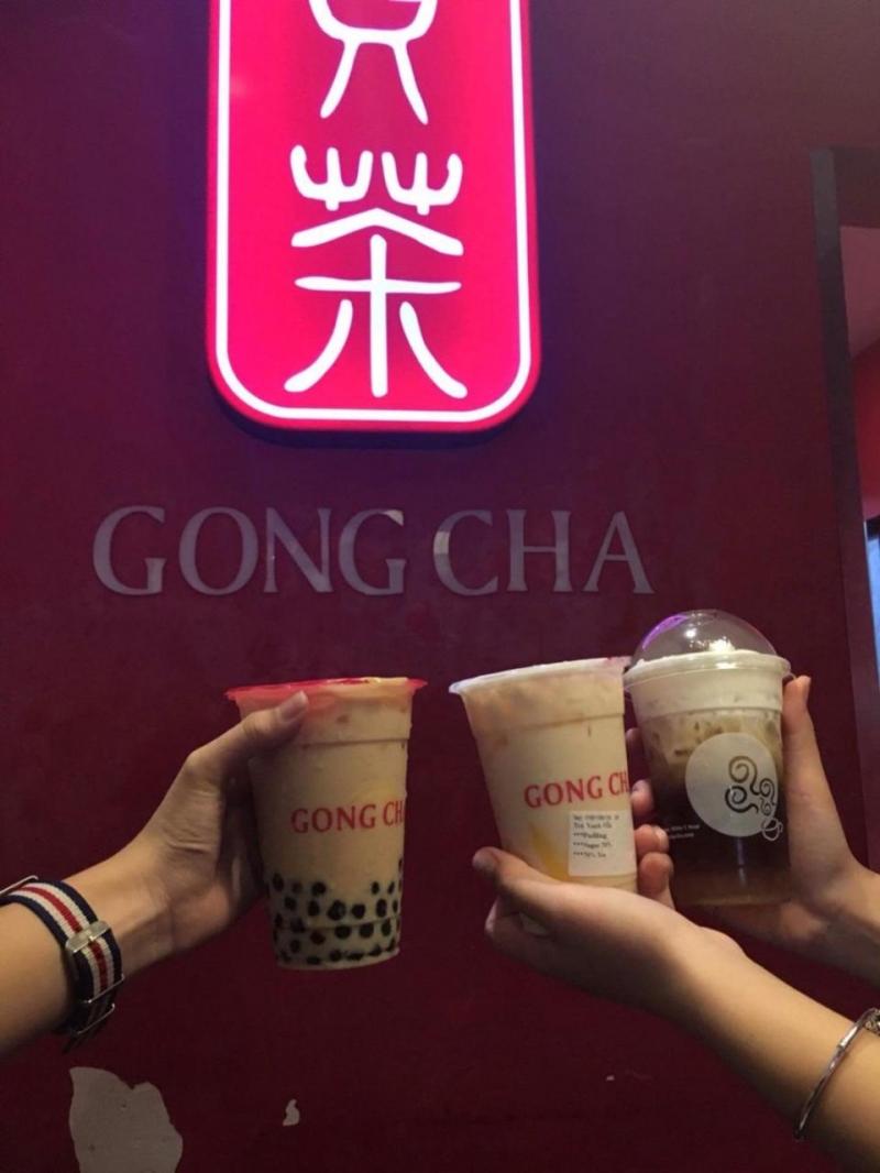 Trà sữa Gong Cha từ lâu đã là thương hiệu nổi tiếng rất được các bạn trẻ yêu thích