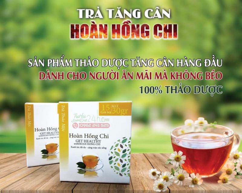 Trà Hoàn Hồng Chi là một sản phẩm được chiết suất từ nhiều loại thảo dược rất tốt cho những người gầy.