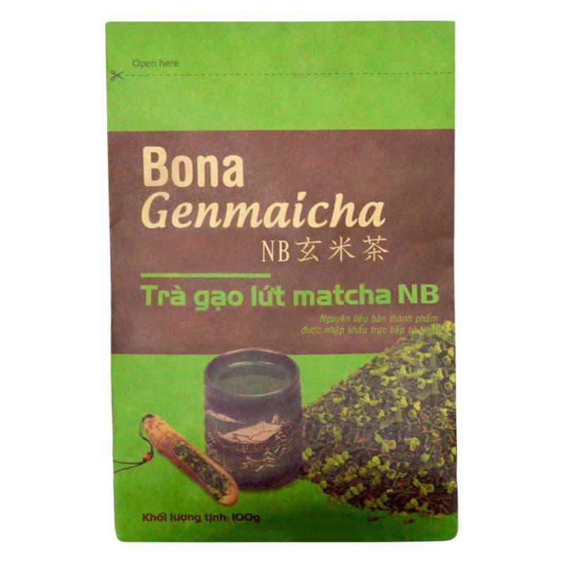 Trà xanh gạo lứt Bona Genmaicha