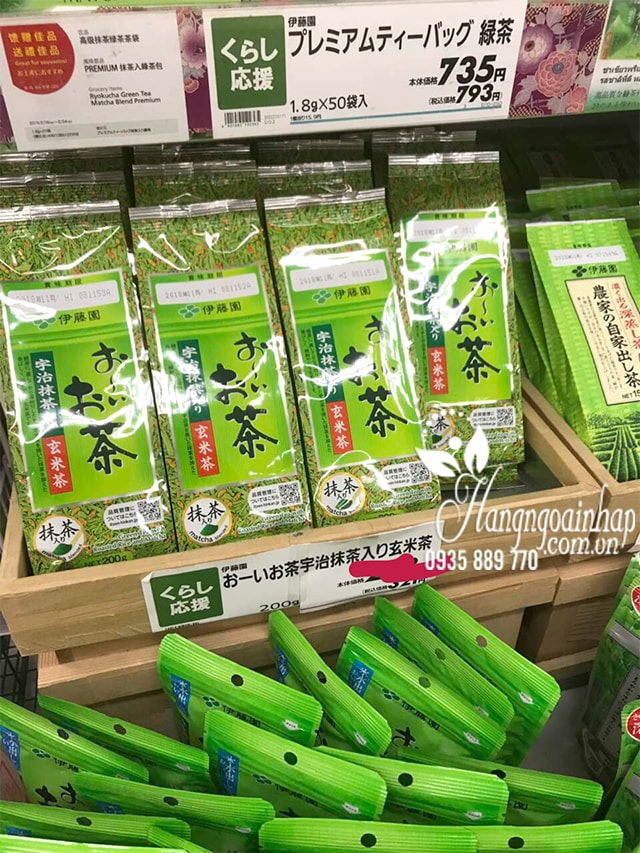 trà gạo lứt của Nhật Bản