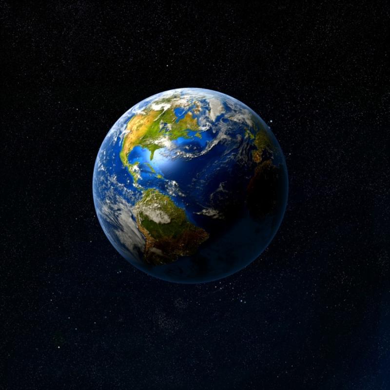 Trái Đất với trục quay của mình