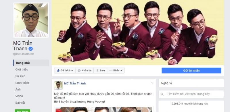 fanpage hơn 9,5 triệu người theo dõi