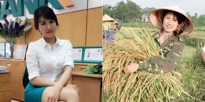 Hình ảnh ôm bó lúa gây sốt của Trần Thị Tâm