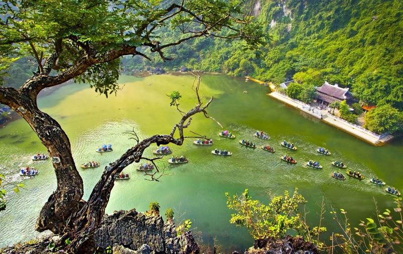 Khung cảnh tuyệt đẹp ở Tràng An - Ninh Bình.