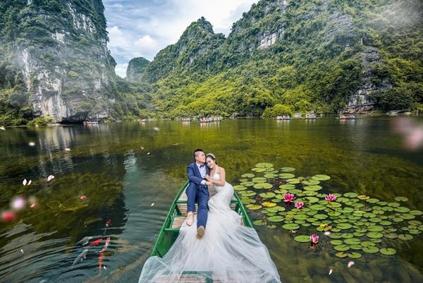 chụp ảnh cưới ở Tràng An - Ninh Bình
