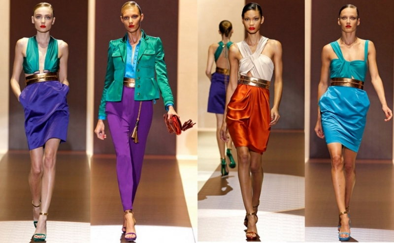 Những trang phục color block thường được kết hợp từ 2 đến 3 màu sắc tương phản nhau