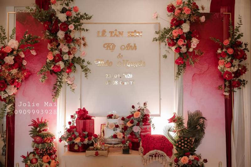 Trang trí dịch vụ cưới hỏi Jolie Mai
