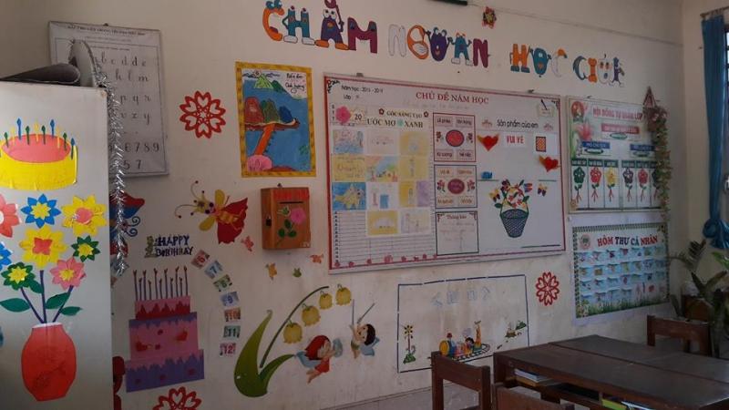 Trang trí tường của lớp học