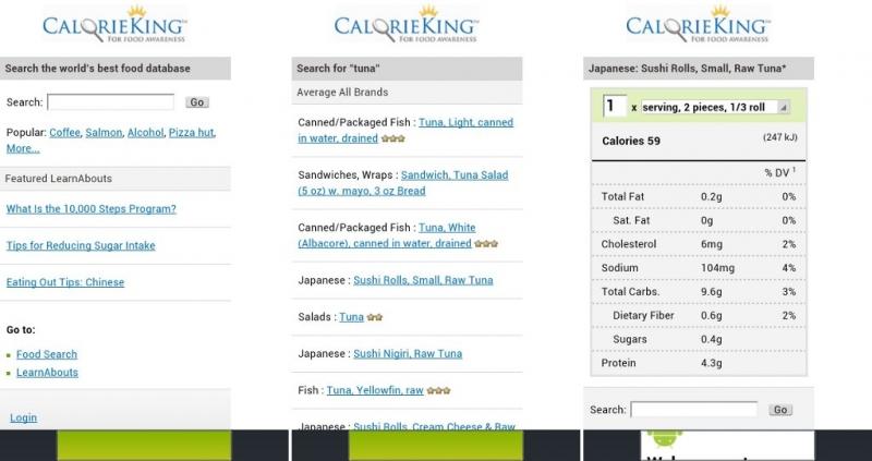 Trang web chuyên về thực phẩm – Calorie King