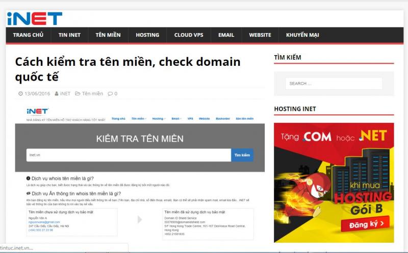 Top 10 trang web kiểm tra tên miền nhanh và chính xác nhất