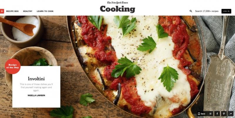 Trang web nấu ăn – The New York Times Cooking