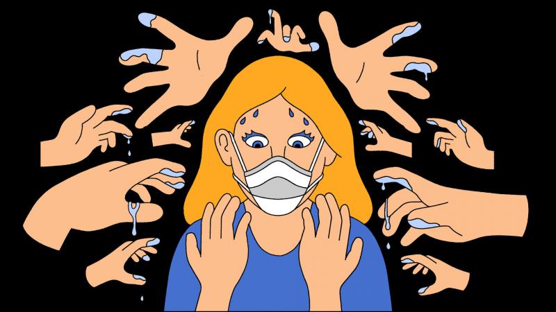Tránh chạm tay vào mắt, mũi và miệng của mình