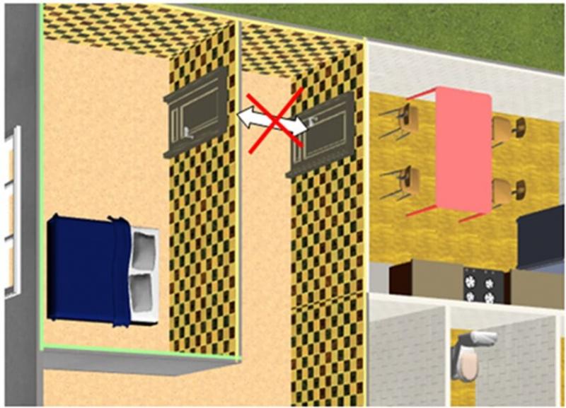 Tránh cửa phòng bếp đối diện với cửa phòng ngủ