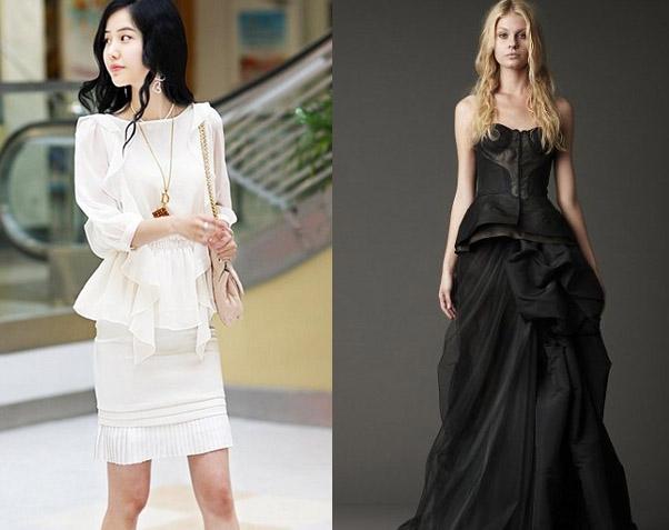 Tránh mặc đồ trắng với đen