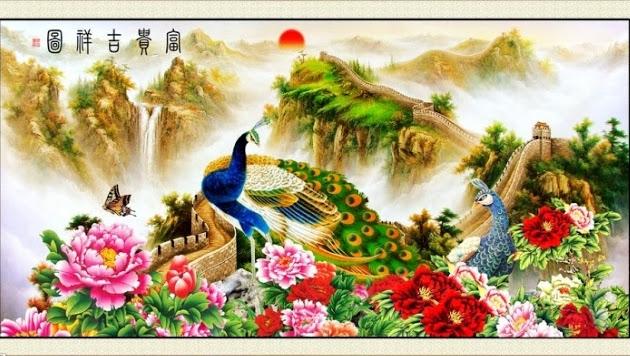 Những bức tranh thêu phong cảnh được bán tại Tranh68.com