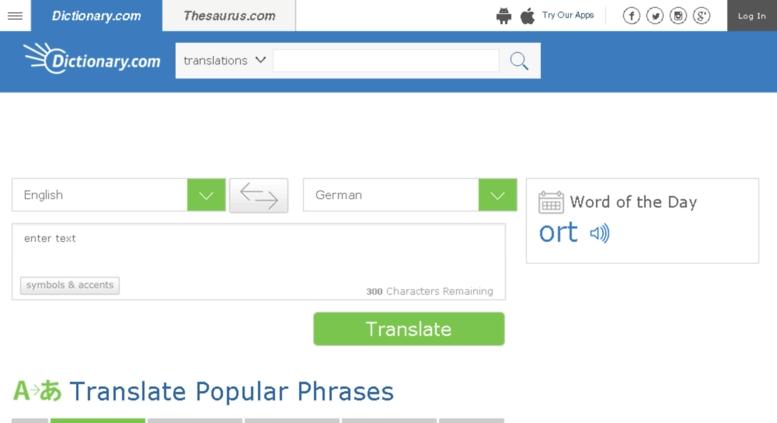 Translate.reference.com là một trong những trang web dịch văn bản tốt nhất hiện nay