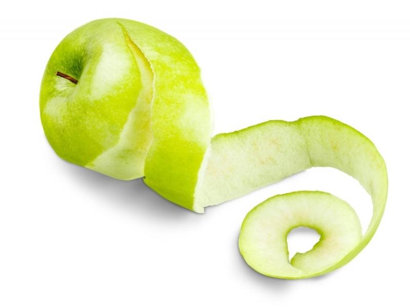 Vỏ táo cũng có ích trong việc trị bỏng