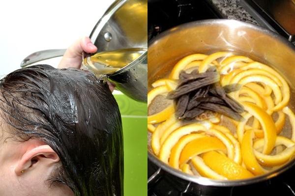 làm dầu gội bưởi trị rụng tóc và kích thích mọc tóc