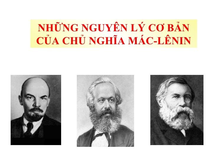 Những nguyên lý cơ bản của chủ nghĩa Mác - Lênin