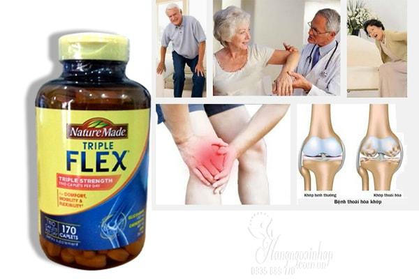 Triple Flex Nature Made giúp tăng cường sức khỏe xương khớp, hỗ trợ điều trị các bệnh liên quan đến xương khớp hiệu quả nhất.