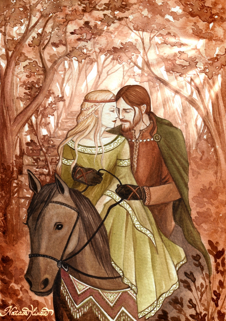Tristan và Iseult hạnh phúc bên nhau