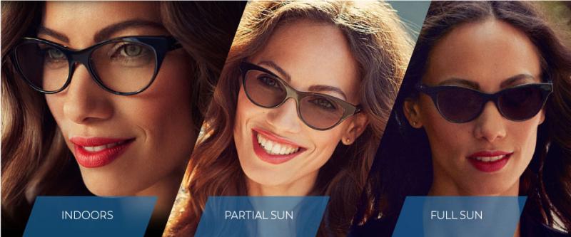 Tròng kính đổi màu Hoya V-idol Sunplus