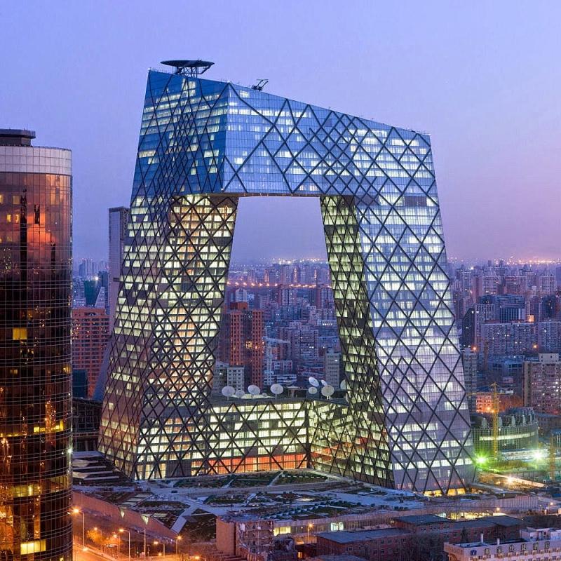 Trụ sở của đài CCTV ở Bắc Kinh, Trung Quốc