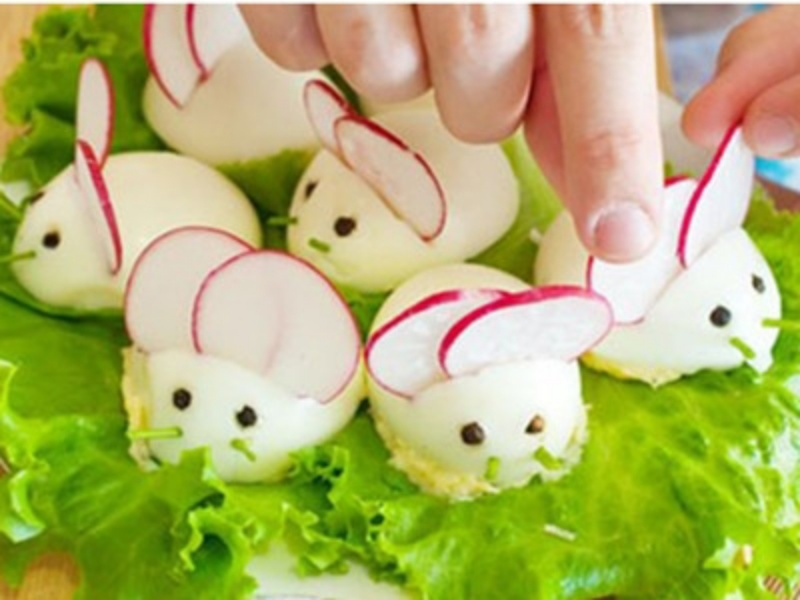 Các món ăn ngộ nghĩnh từ trứng