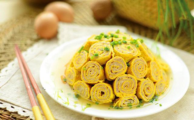 Trứng cuộn nấm hấp