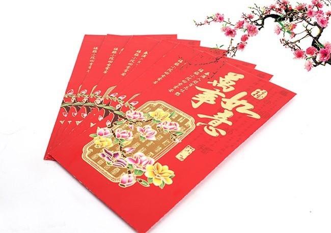 Phong bao lì xì đỏ của người Trung Quốc