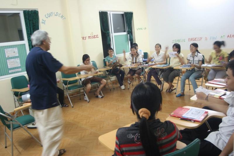 Buổi học dưới sự hướng dẫn  của giáo viên nước ngoài