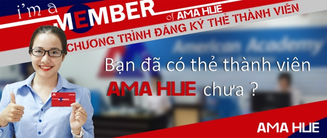 Để nhận thêm nhiều ưu đãi, bạn hãy đăng ký thẻ thành viên AMA HUE