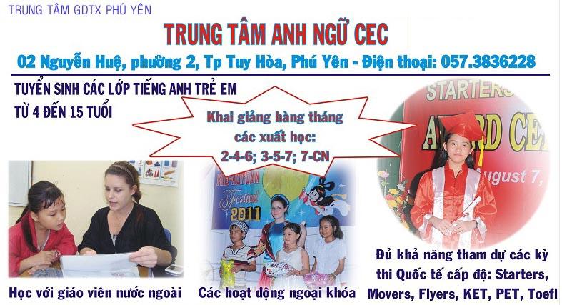Trung tâm Anh ngữ CEC - Trung tâm GDTX Phú Yên