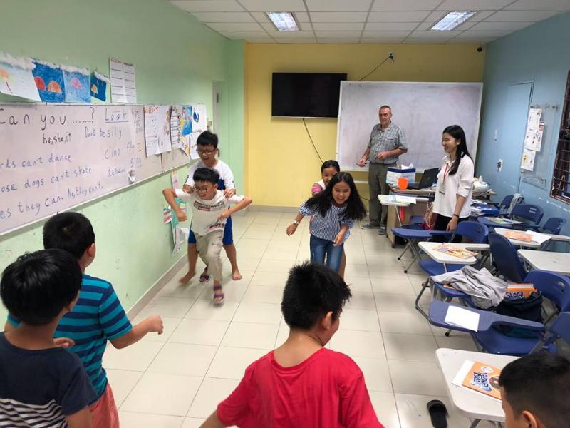 Lớp học dành cho thiếu nhi tại Trung tâm Anh Ngữ Đỗ Mạnh - AMA Cần Thơ